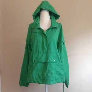 Old navy rain jacket green half zip hoodie